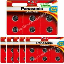 36 x Panasonic CR2032 3V Lithium Coin Cell Battery 2032