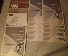 Lot Of 13 Johnson Sea-Horse Parts Catalogs 1969 1.5 Hp - 115 Hp + Other Catalogs