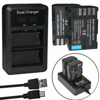 2X Battery DMW-BLF19E DMW-BLF19PP +charger for Panasonic Lumix GH5s GH5SGN DC-G9