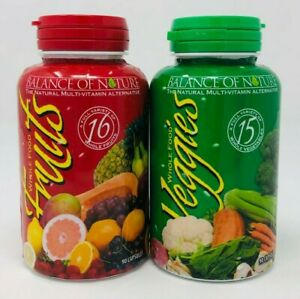 Balance of Nature Whole Food Fruits and Veggies 90 Capsules Each NEW EXP: 2022