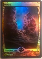 Marais Full Art Zendikar VF PREMIUM / FOIL French Textless Swamp - Magic mtg 239