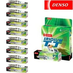 8 Pack Denso Iridium TT Spark Plugs for BENTLEY CORNICHE 1984 V8-6.8L