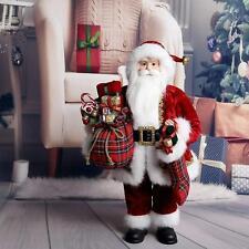 48cm Traditional Standing Father Christmas Santa Claus Figure Xmas Decoration UK