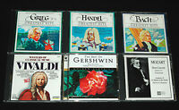LOT OF 6 CLASSICAL CD'S (Gershwin Mozart Vivaldi Bach Handel Grieg) Music