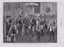 1873-antiguo Shah Persia Irán impresión Alemania Berlín emperador William (034)