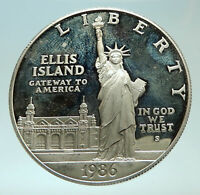 1986 UNITED STATES Statue of Liberty Genuine Silver Dollar Coin i75934