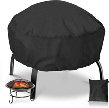 38 Inch Round Fire Pit Cover Waterproof Heavy Duty Round Patio Fire Bowl Cover