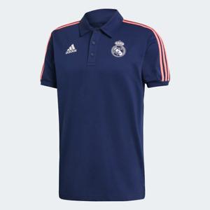 Adidas Men's Real Madrid 3-Stripes Polo Shirt, Navy