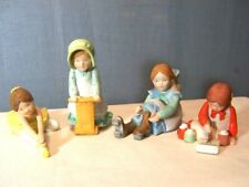 New Listing4 Vintage Holly Hobbie Miniature Figurines Lot Ballet Scooter Skates Painting