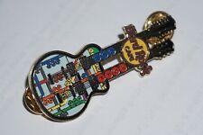 """Hard Rock Cafe -Vintage HRC New York """"Subway Transit Map"""" Twin Guitar Pin - 2007"""