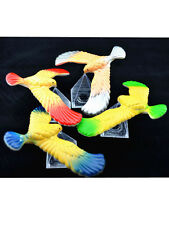 3 Pcs Per Order Cute Balancing Bird With Clear Triangle Stand (Colors May Vary)