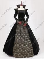 Marie Antoinette Velvet Dress NAVY Steampunk Halloween Dark Witch Ball Gown 153