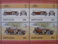 1932 LINCOLN K.B. (KB) Car 50-Stamp Sheet / Auto 100 Leaders of the World