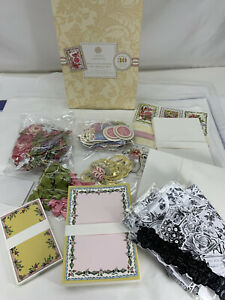 Anna Griffin PRETTY PAINTINGS CARD MAKING Kit + Black White Die Cut Extras