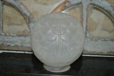 ANCIEN globe boule tulipe pour lustre plafonnier suspension art déco