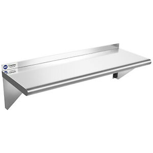 "12""×36"" Stainless Steel Shelf NSF Commercial Wall Mount Shelf Kitchen Restaurant"