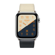 Apple Watch Series 4 Hermes 44mm Indigo/Craie/Orange Swift Single Tour NEW