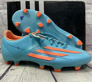Adidas Women's F30 TRX FG Soccer Cleats Size 5 Light Blue Orange New With Box