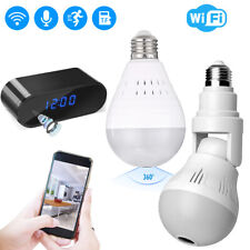 Hd 1080P Hidden Spy WiFi Camera Light Bulb Dome Surveillance Security Camera Usa
