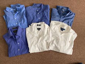 Men's Dress Shirts Long Sleeve, Size 15 & 15.5 Lot Of 6