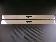 RUNNING HORSE PONY chrome door step sills sill plate