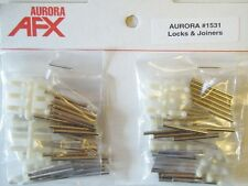 Aurora Model Motoring Slot Car Track Lock and Joiners on Dealer's Card NOS