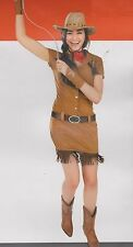 COWGIRL CUTIE COSTUME Adult Large 12-14 Western Cowboy Diva Sexy Women Dress NEW