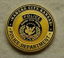 KANSA CITY POLICE DEPARTMENT Challenge Coin Kansas KCPD Officer Badge Agent KC