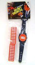 Original 1970's Vintage Secret Agent Digital Toy Watch Fires plastic Bullets