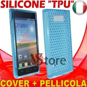 Cover Case For LG Optimus L7 P700 Blue Gel Sico Silicone TPU