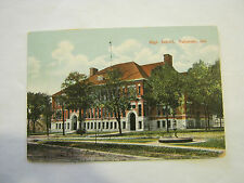 High School, Valparaiso, Ind, 1900's Post Card (GS19-51)
