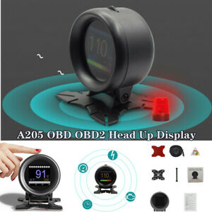 A205 OBD OBD2 Head Up Display HUD Car Digital Temperature Gauge Voltage Devices