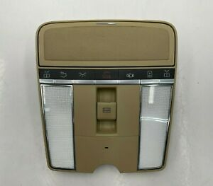 2007 - 2013 MERCEDES S CLASS - OVERHEAD DOME LIGHT SUN ROOF SWITCH BEIGE OEM