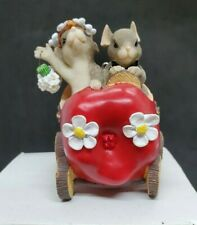 Charming Tails Figurine The Get Away Car Just Married
