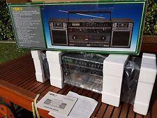 BOOMBOX GHETTOBLASTER VINTAGE ANNEES 80'S NEUF EN CARTON YOKO NO SHARP JVC