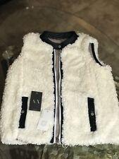 Armani Exchnage Riversible Faux Fur Vest Size M New $88