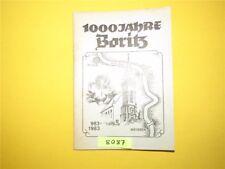1000 Jahre Boritz 983-1983 DDR Sachsen Festveranstaltungen Geschichte 1983