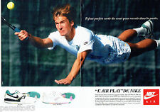 PUBLICITE ADVERTISING 046  1988  Nike baskets tennis  ( 2p)  Air Play