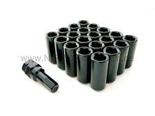 À six pans creux acier lug nuts m12 x 1.5 Écrous de Roue Long Noir 20 pour le Japon Racing
