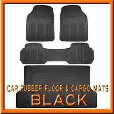 Fits 3PC GMC Terrain Black Rubber Floor Mats & 1PC Cargo Trunk Liner mat