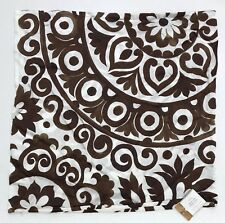 """NEW Pottery Barn Oversized Suzani Print Silk 24"""" Pillow Cover, BROWN"""