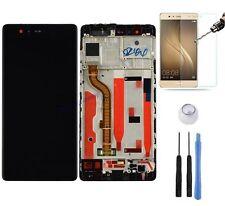 ECRAN LCD VITRE TACTILE SUR CHASSIS BLOC COMPLET POUR HUAWEI P9 EVA-L09 NOIR 5.2