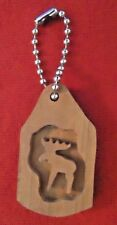 Wood Moose Keychain