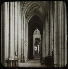 Glass Magic Lantern Slide SOUTH AISLE EAST WINCHESTER CATHEDRAL C1890 PHOTO