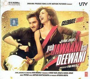YEH JAWAANI HAI DEEWANI - Bollywood Soundtrack CD - Ranbir Kaapoor & Deepika