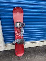 Atomic Tika 139 snowboard & Ride bindings Womens Girls Board