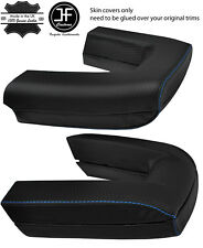BLUE  STITCH ROLL OVER BAR CARBON VINYL COVERS FITS BMW Z4 E85 ROADSTER 03-09