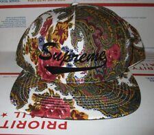 Supreme PAISLEY 5 panel Snapback Skateboard floral Hat NOAH Stussy Mishka huf FA