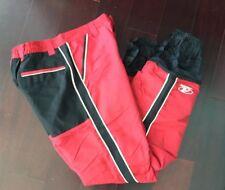 Rare New Men's Red Vintage ANARCHY 100% Nylon USA Made Snowboarding Pants Medium