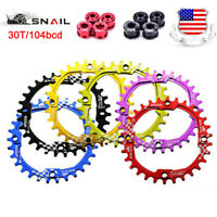 SNAIL 104BCD Narrow Wide Bicycle Chain ring 30T CNC Aluminum MTB Bike Chainwheel